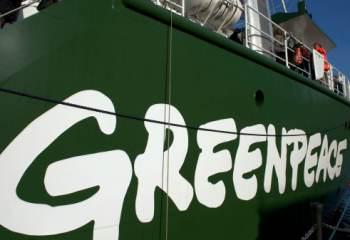 Greenpeace proteste contre le gouvernement