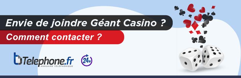 Renseignements Par Telephone De Geant Casino Service Informations
